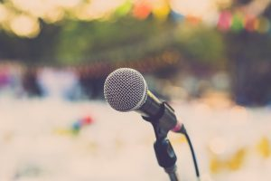 Public speaking with a voice disorder
